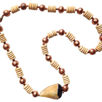 Copper & Horn Earthy Necklace
