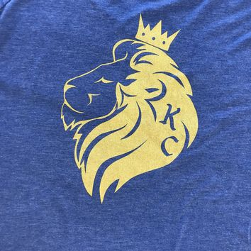 We Got Your Back Apparel Women's King Lion KC Tee Gold
