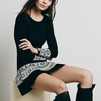 Knitz by For Love & Lemons Womens Ice Skate Mini Dress - Black