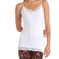 "The ""Michelle"" Lace Trim Cami: Charlotte Russe"