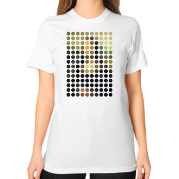 Mona Lisa Remix Unisex T-Shirt (on woman)