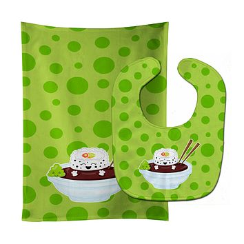 Sushi Bowl Baby Bib & Burp Cloth BB8807STBU