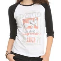 Led Zeppelin World Tour Girls Raglan
