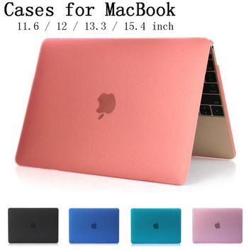 For Apple Macbook Air Pro Retina 11 12 13 15 inch Laptop Cover Crystal Matte Full Protector case cover For Mac book bag Shell
