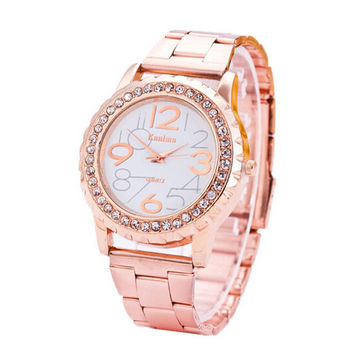Fashion Womens Rose Gold Steel Strap Watches Girls Casual Sports Watch Best Christmas Gift
