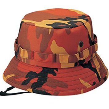 G Men's Camouflage Twill Hunting Hat with Bullet Belt Orange Camo (Small)