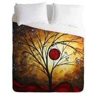 Madart Inc. Blue Blossoms Duvet Cover