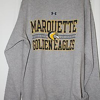 MARQUETTE UNIVERSITY MENS LG LONG SLEEVE SWEATS BY UNDER ARMOUR NWT