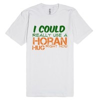 Horan Hugs tee-Unisex White T-Shirt