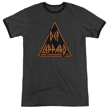Def Leppard - Distressed Logo Adult Heather