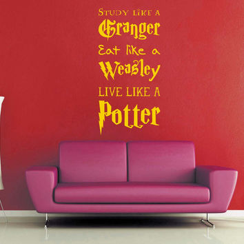 Live Like A Potter   Harry Potter Wall Decal