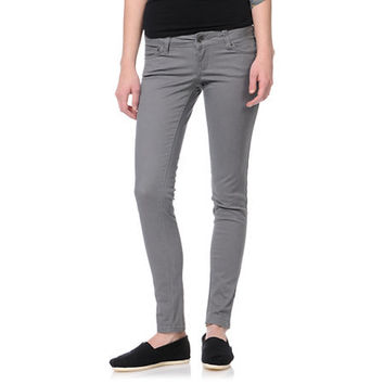 Empyre Girls Logan Grey Twill Skinny Jeggings at Zumiez : PDP