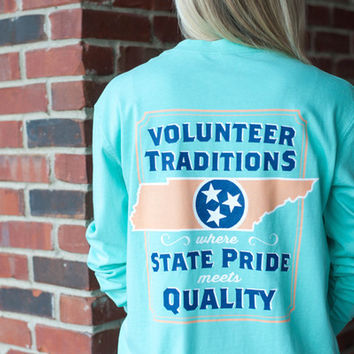 Tennessee Outline Long Sleeve Tees - Volunteer Traditions