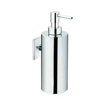 Square Self Adhesive Pump Soap Lotion Dispenser for Bathroom, Brass Chrome