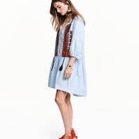 H&M Embroidered Cotton Dress $49.99