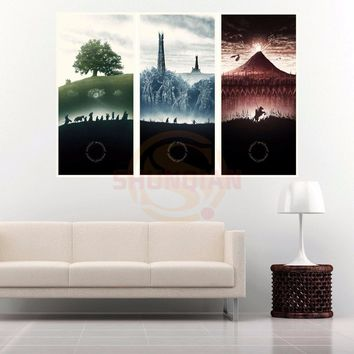 G928 The Lord of the Rings Canvas Painting Wall Silk Poster cloth print Custom Print your image Fabric Poster