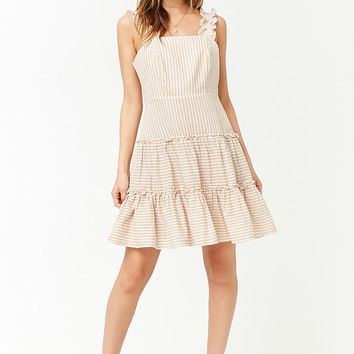 Striped Linen-Blend Dress