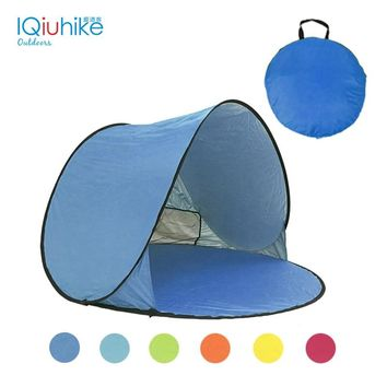 IQiuhike Outdoor Beach Sun Shelters Camping Tent Pop Up Open Camping Tent For Fishing Picnic Beach With Bag Anti UV Shelter