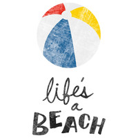 "Nick Nelson's ""Life's a Beach"" wall decal"