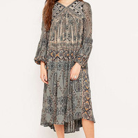 Free People City Turquoise Midi Dress - Urban Outfitters