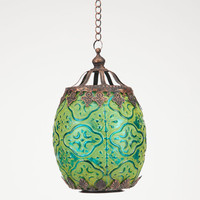 Small Glass Lantern Green One Size For Women 24530950001
