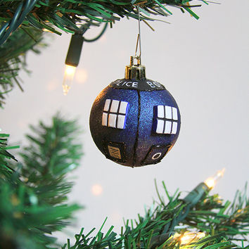 Doctor Who Ornament Tardis Chistmas holiday | Doctor Who Inspired