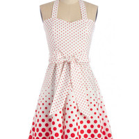 ModCloth Pinup Long Halter Fit & Flare Ice Cream Sunday Dress