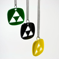 Legend of  Zelda Triforce Cutout Necklace - Laser Cut Acrylic Pendant Necklace - SALE PRICE