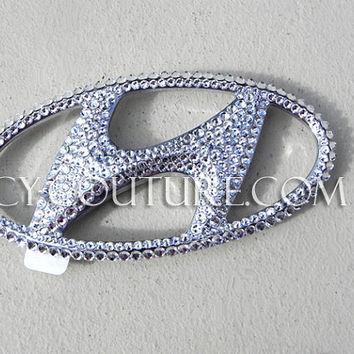 HYUNDAI Crystal Bling Swarovski Bling  Emblem by IcyCouture