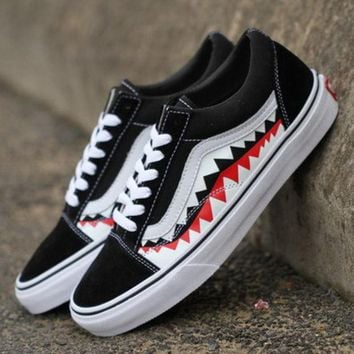 VANS x BAPE Print Old Skool Flats Sneakers Sport Shoes