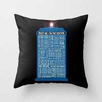 Doctor Who  Throw Pillow by Luke Eckstein