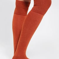 Ribbed-Cuff Over-The-Knee Sock