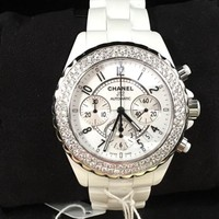 HALF PRICE BRAND NEW Chanel J12 White Ceramic with pure Diamond Bezel