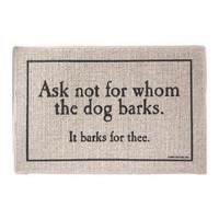 Whom The Dog Barks Indoor/Outdoor Doormat