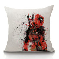 Creative 45*45cm Marvel Hero  Deadpool Lying Pillowcase Cushoins Seat Cover Decorative Pillow Case bedding wedding Cover
