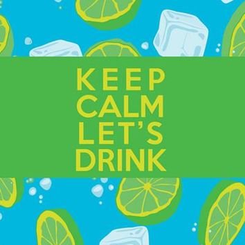 Keep Calm Let's drink: A revolutionary beach towel With Water-Resistant Pocket, lightweight, Thin, Compact and even more (Green)