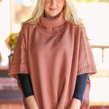 Let it Snow Sweater - Dark Rose Gold