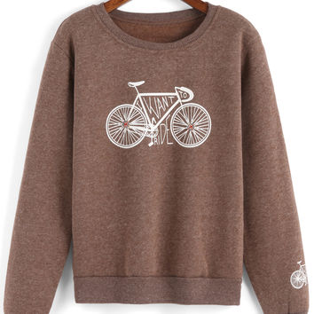 Bicycle Print Sweatshirt