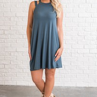 Justice Strappy Dress (Teal)