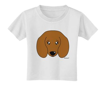 Cute Doxie Dachshund Dog Toddler T-Shirt by TooLoud