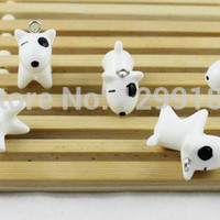 50pcs/lot Resin Animal Dog Pendant Lovely Charms for DIY Necklace & Bracelet 23x10mm (K00394)