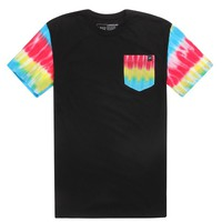 Young & Reckless Tie Dye Pocket T-Shirt - Mens Tee - Black