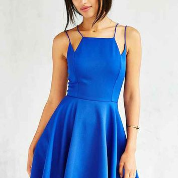 Silence + Noise Square-Neck Strappy Skater Dress