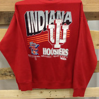 Vintage College Sweatshirt- University of Indiana