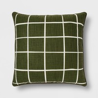 Grid Oversize Square Throw Pillow - Room Essentials™