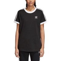 adidas Originals 3 Stripes T-Shirt - Women's - Short Sleeve - Clothing - adidas Originals - Women's - Cardio - Black/White | Six 02