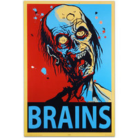 "Zombie ""Brains"" Wall Poster"