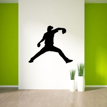 Baseball Pitcher Wall Decal Sticker 38