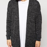 ASOS Longline Cardigan in Brushed Texture