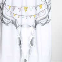 Wesley Bird For DENY Skull Shower Curtain - Urban Outfitters